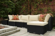 Mega Sale on All Weather Wicker 6-Piece Sectional Sofa Set